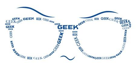 Geek Specs - Blue Stock Photo - 21266517