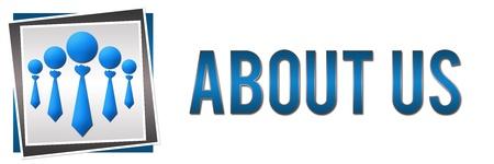 About Us Group Blue Standard-Bild