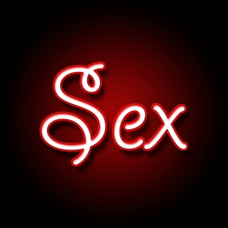 Sex in Red Black Background photo