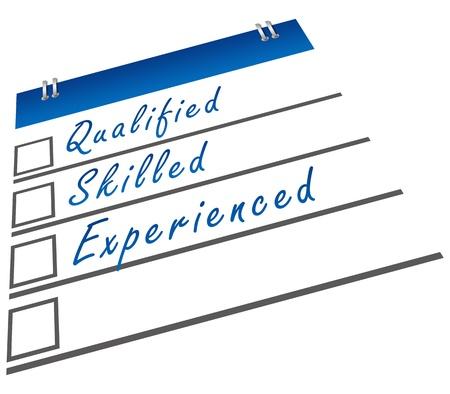 Qualifizierte Fach Erfahrene Standard-Bild - 23087002