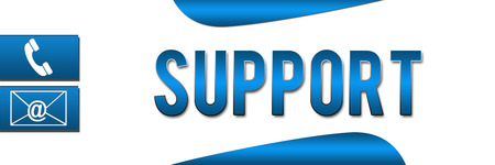 Support Blue Banner Stock Photo - 23130603