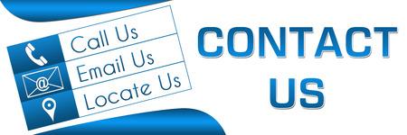 Contact Us Three Box Banner Stock Photo