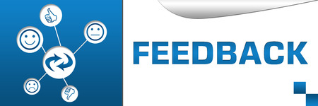 Feedback Banner with Icons Web photo