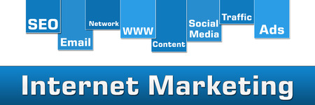Internet Marketing Blue Stripe Banner photo