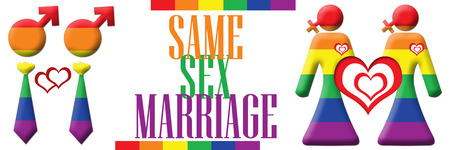 Same Sex Marriage Banner Stock Photo