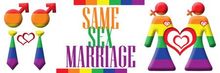 same sex: Same Sex Marriage Banner Stock Photo