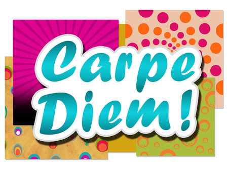 Carpe Diem In Background Colourful Archivio Fotografico