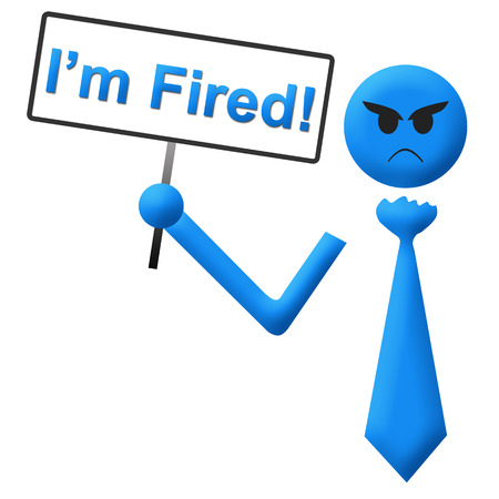 I Am Fired Man With Signboard photo
