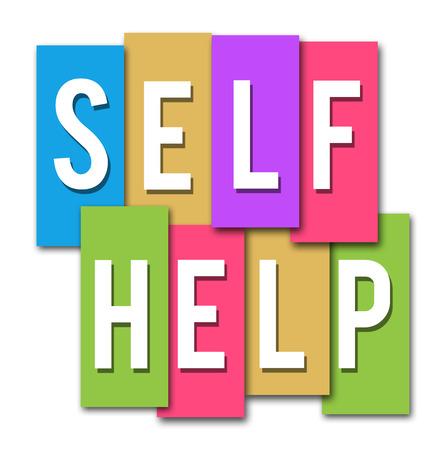 Self Help Rayures colorées Banque d'images - 25296654