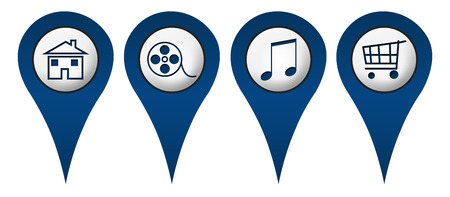 Home Movies Music Shopping Location Icons photo