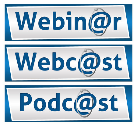 Webinar Webcast and Podcast Blue Blocks photo