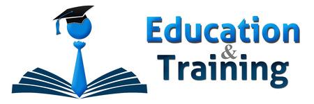 Istruzione e formazione umana Berretto Libro Banner Archivio Fotografico