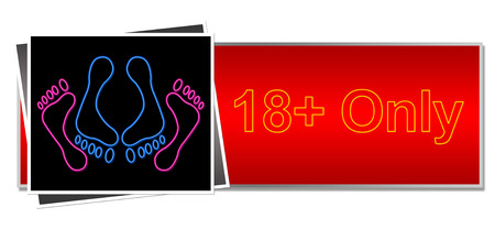 18 Only Red Black Neon photo