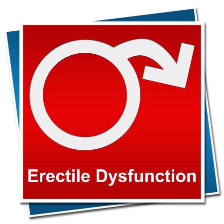 sexuel: Dysfonction érectile Symbole Rouge Bleu