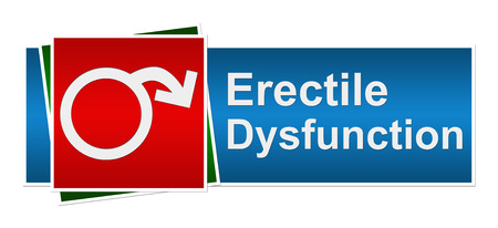 Erektile Dysfunktion Blau Rot Grün Banner Standard-Bild - 26168683