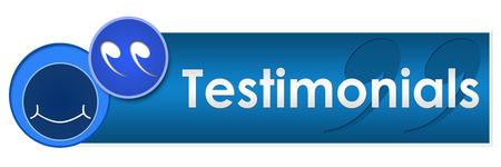 Testimonials Circles Square Stock Photo - 26174338