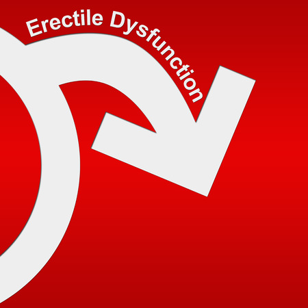 dysfunction: Erectile Dysfunction Red White Stock Photo