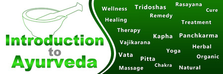 introduction: Introduction To Ayurveda Geen Keywords Banner