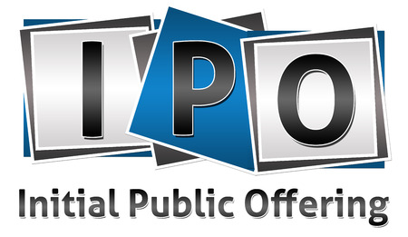 initial public offering: IPO Three Blocks Stock Photo