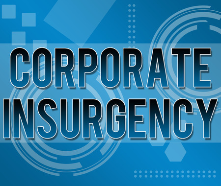 insurgency: Corporate Insurgency text in Business Background Stock Photo