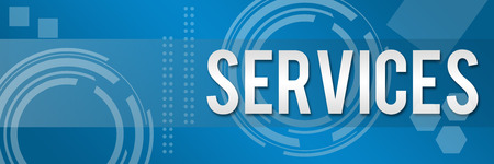 Services Business text in Style Background