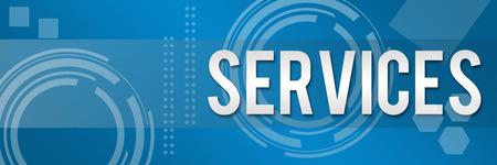 Texte des services d'affaires dans le style de fond Banque d'images - 27570894