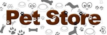 Pet Store Banner Archivio Fotografico