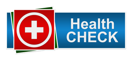 health check: Health Check Red Blue Green Banner Stock Photo