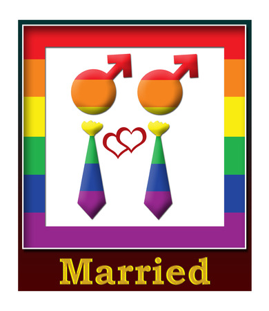 Gay Married Frame photo
