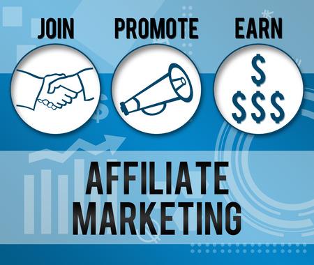 Affiliate Marketing Business Thème de fond Banque d'images - 28466034