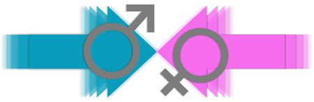 남성 대 여성의 화살표
