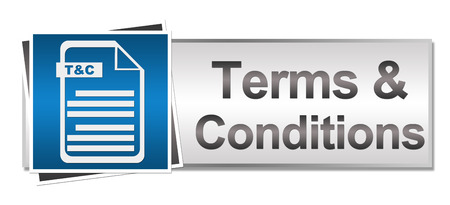 Terms and Conditions Button Style Banco de Imagens