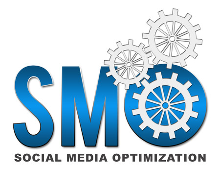 smo: SMO text with gears Stock Photo