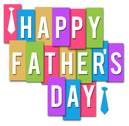 Fathers Day Colorful Stripes