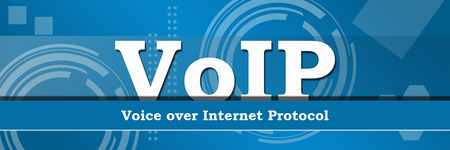 Voip Business Theme Background Banner Stock Photo