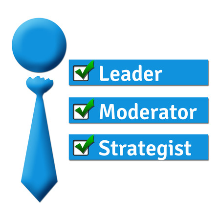 moderator: Leader Moderator Strategist Stock Photo