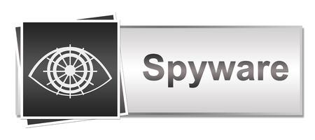 spyware: Spyware Grey Button Style Stock Photo