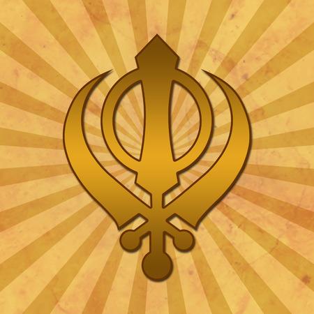 Sikh Symbol Grunge Background photo