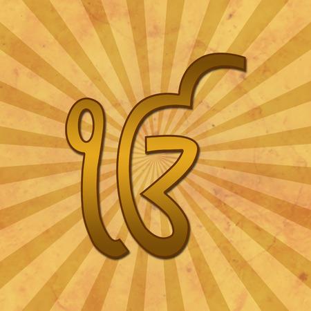 gurudwara: Ek Onkar Grunge Background