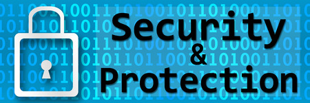internet protection: Security And Protection Binary Banner