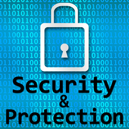 breaking law: Security And Protection Binary Background