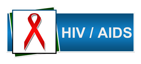 std: Hiv AIDS Red Blue Green Stock Photo