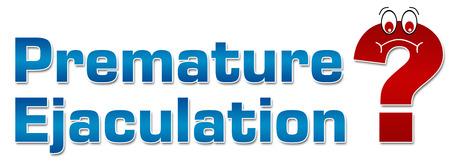 Vorzeitige Ejakulation Question Mark Standard-Bild - 31487111
