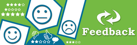 Abstract Green Blue Feedback Banner photo
