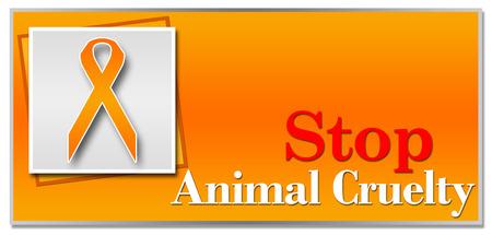 animal abuse: Stop Animal Cruelty Orange