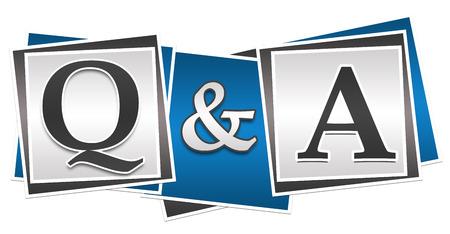 질문과 답변 세 블록