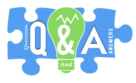 frequently asked question: Questions And Answers Colorful Shapes Stock Photo
