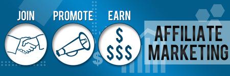 Affiliate Marketing Trois cercles d'affaires thème horizontal Banque d'images - 31963776