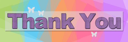 Thank You Colorful Squares Background Banner photo