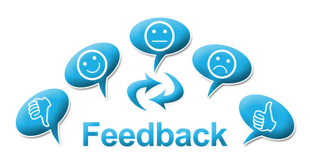 Feedback With comments Symbols Blue photo